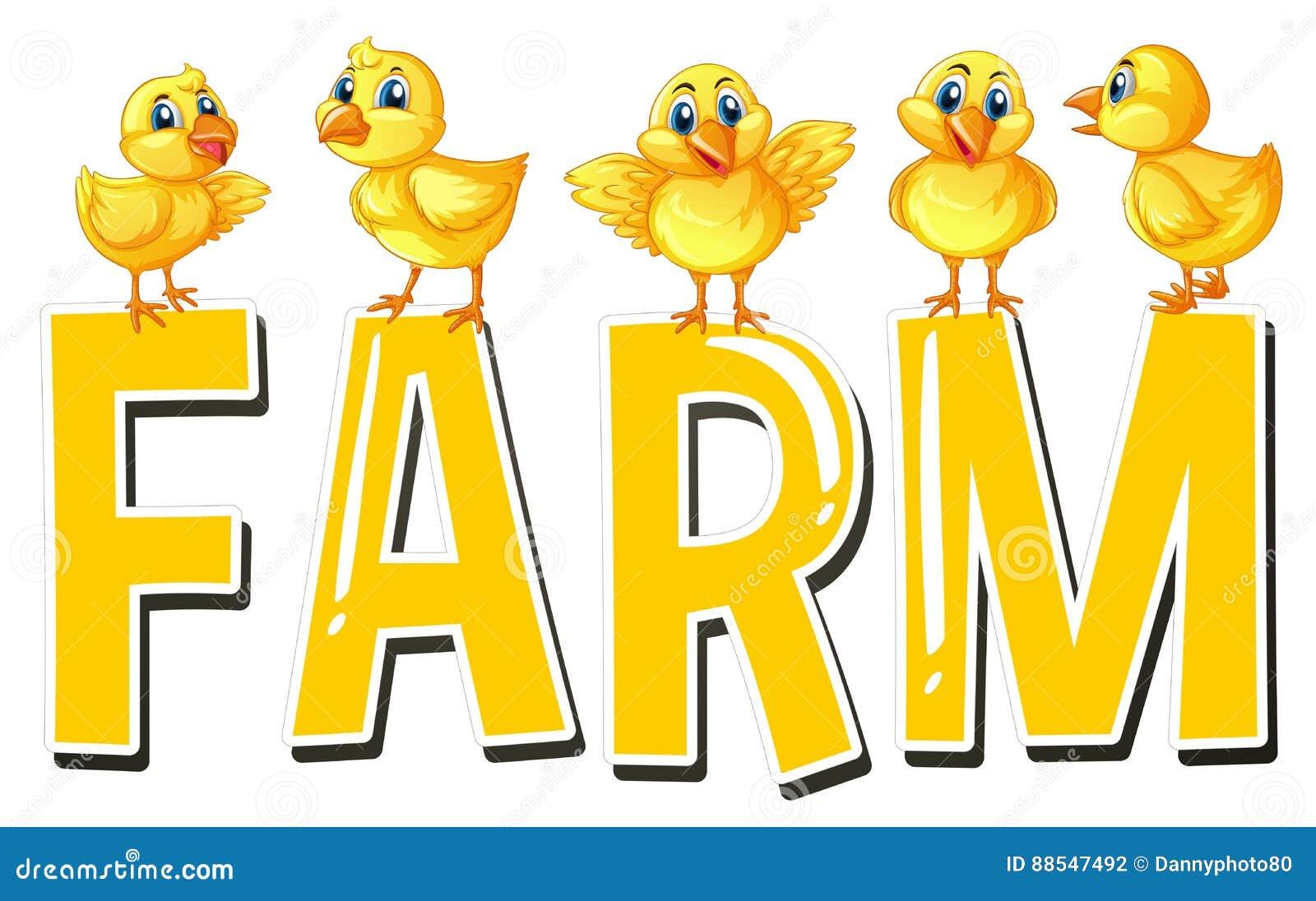 Дизайн шрифта для фермы слова