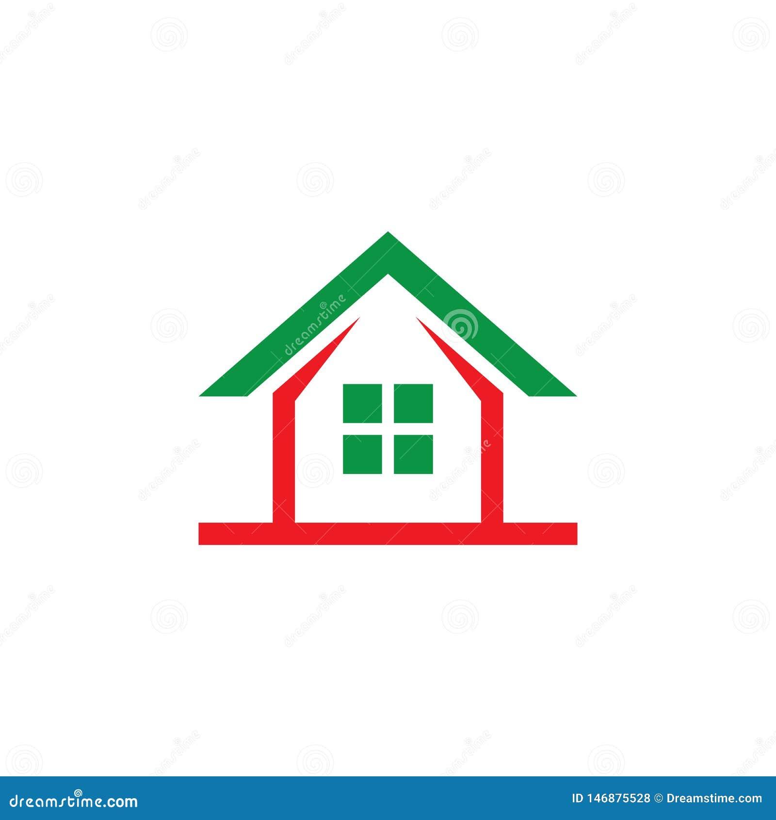 Дизайн Contruction Компания логотипа дома