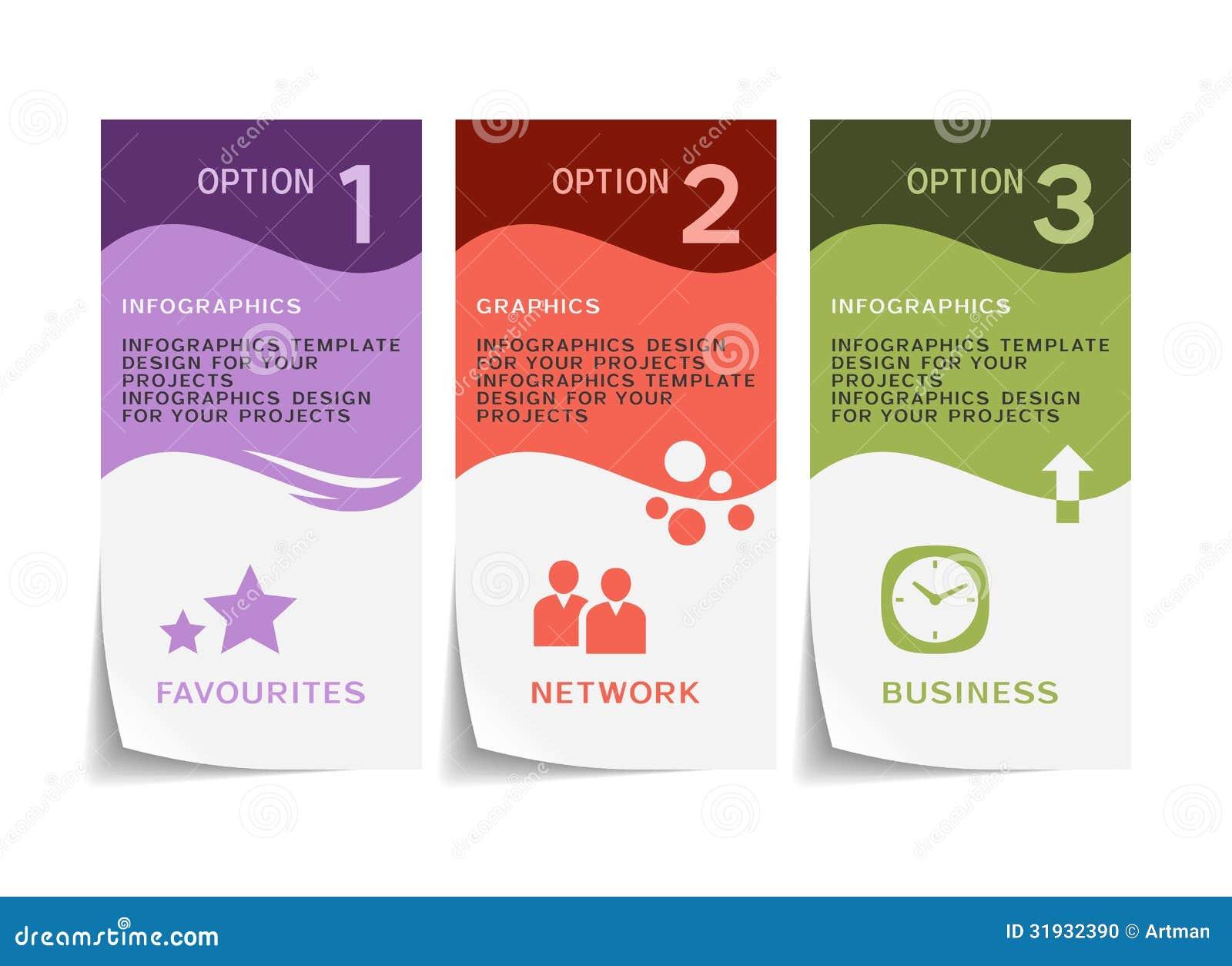Дизайн Infographic с бумажными рогульками