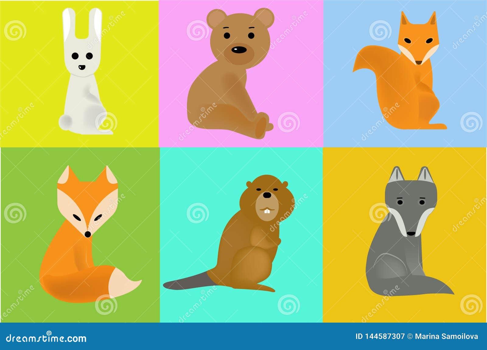 Дикие животные иллюстраций