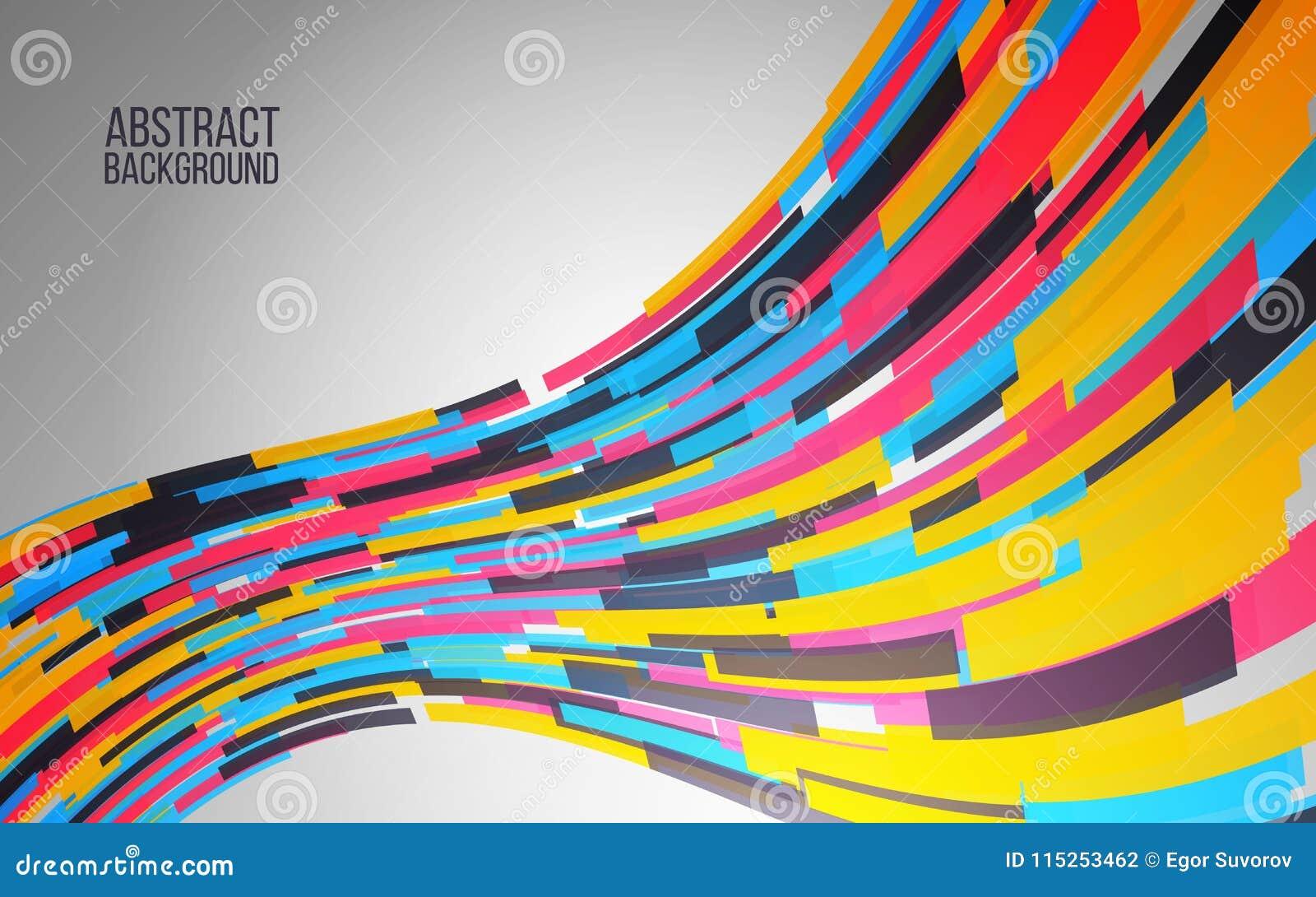 Динамическая красочная волна Абстрактная предпосылка для сети, плакат, знамя Современный дизайн цвета также вектор иллюстрации пр