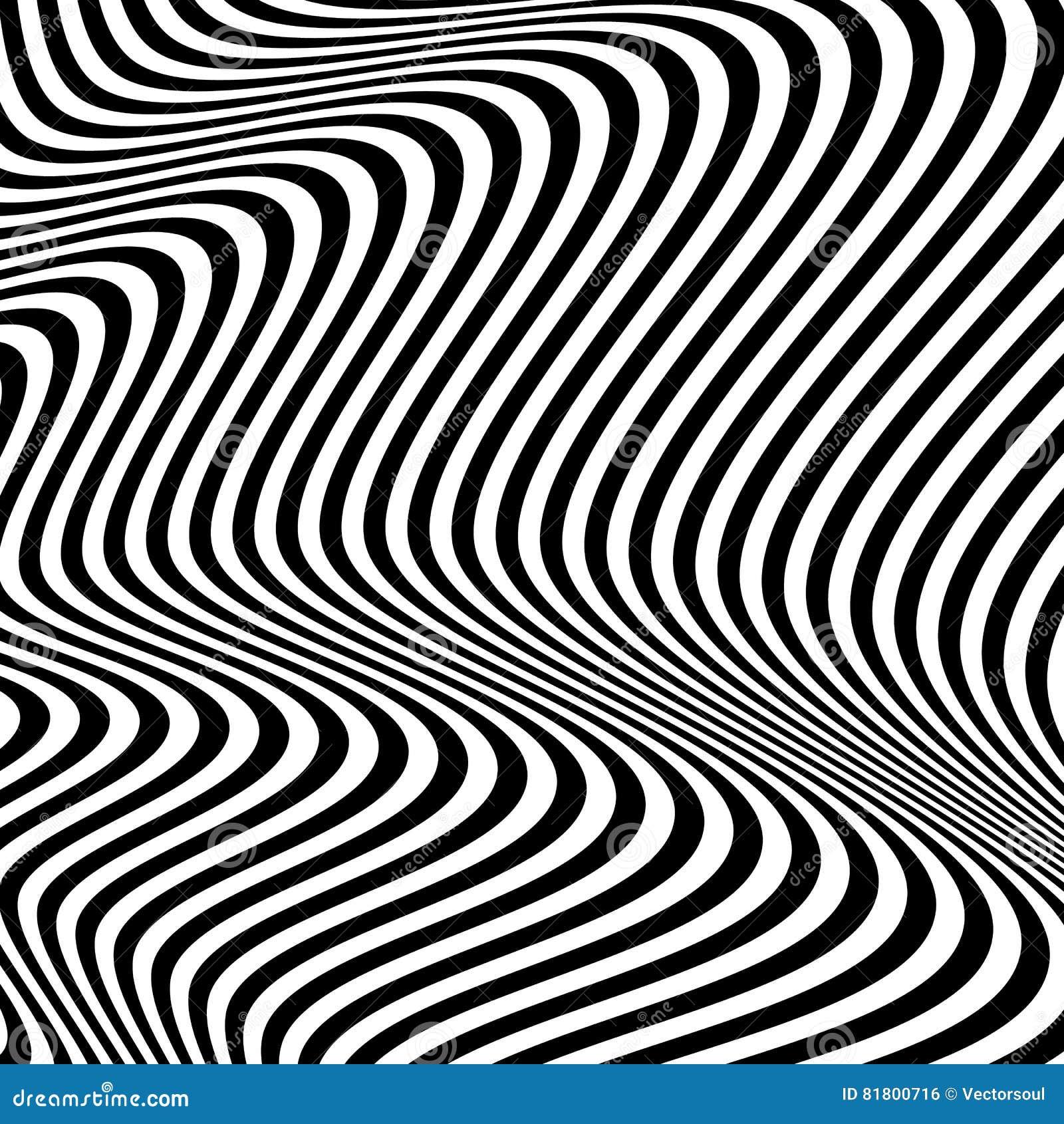 Динамические линии абстрактная картина Иллюстрация вектора с большим c