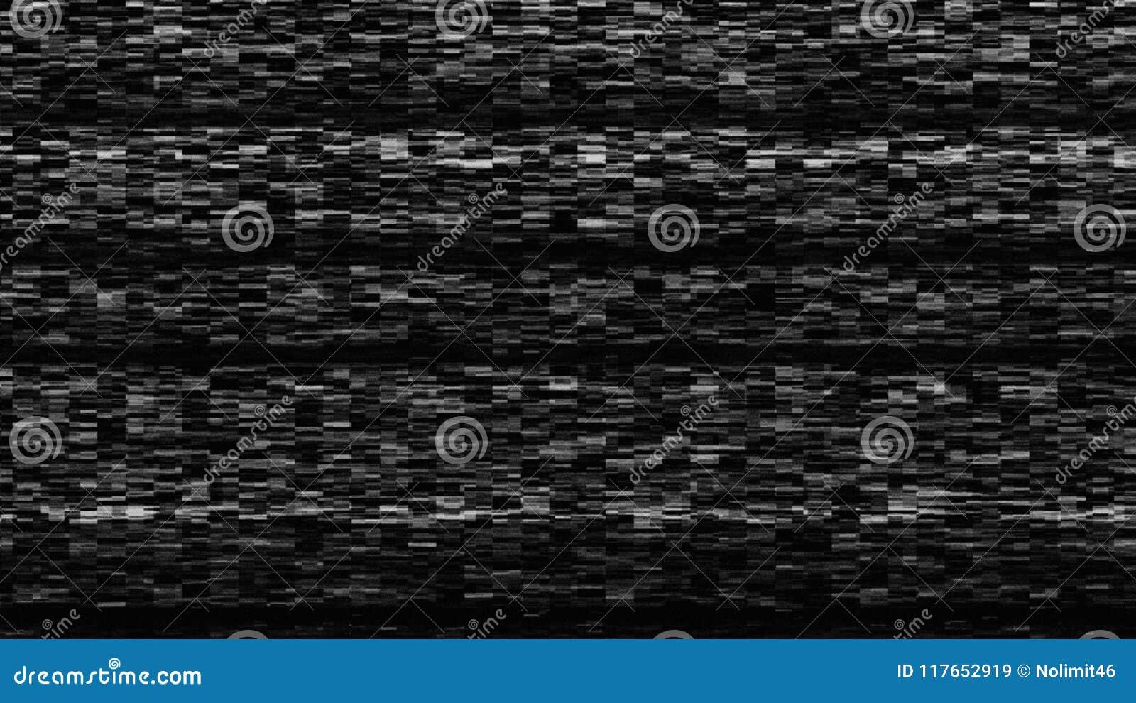 Динамический шум ТВ, плохой сигнал ТВ, черно-белый, monochrome, фон перевода 3d