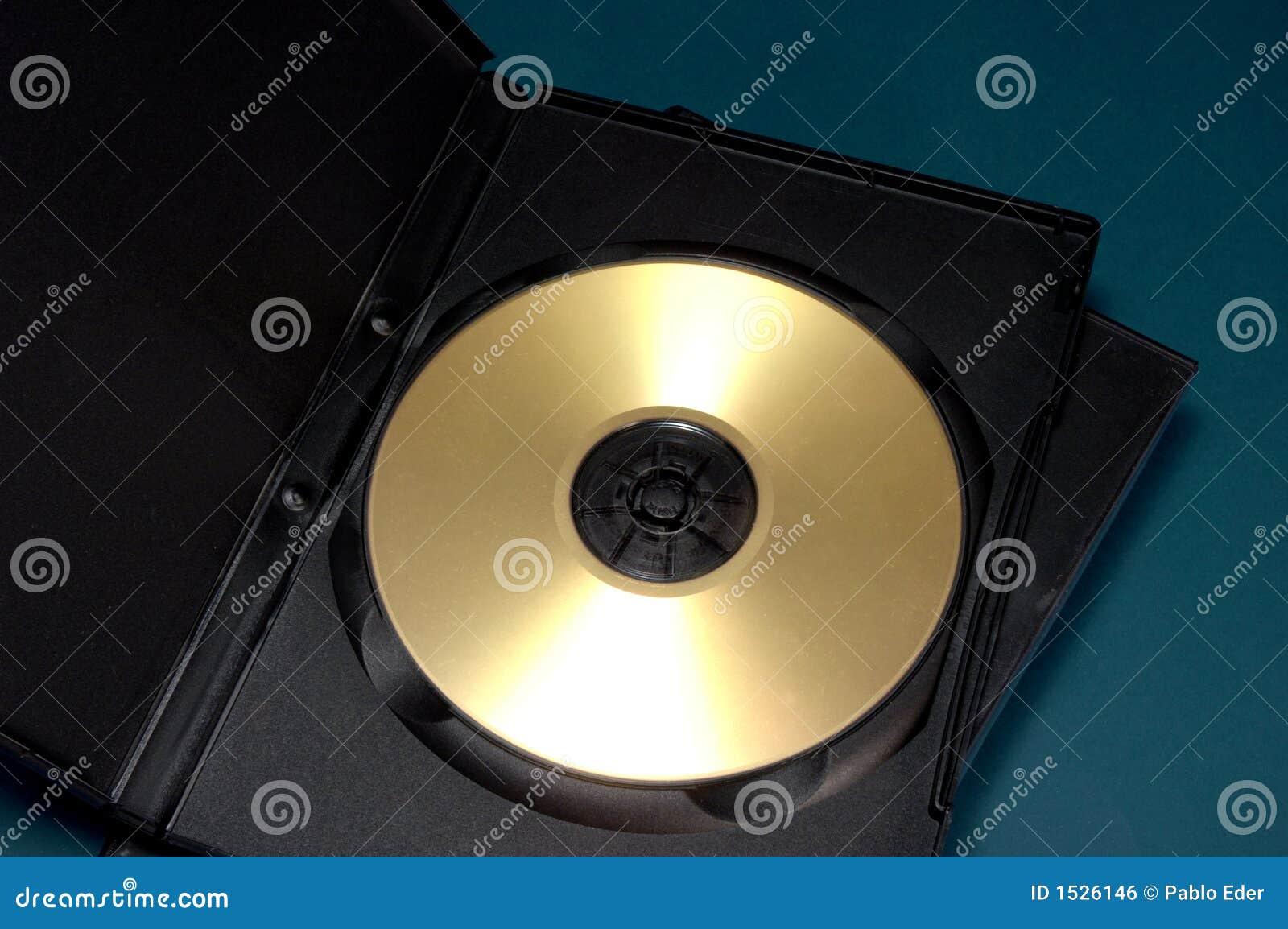 диск случая золотистый