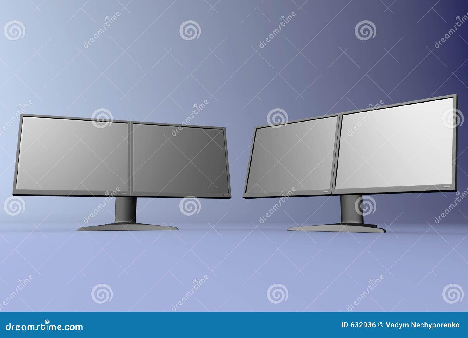 Download дисплеи удваивают lcd иллюстрация штока. иллюстрации насчитывающей экран - 632936