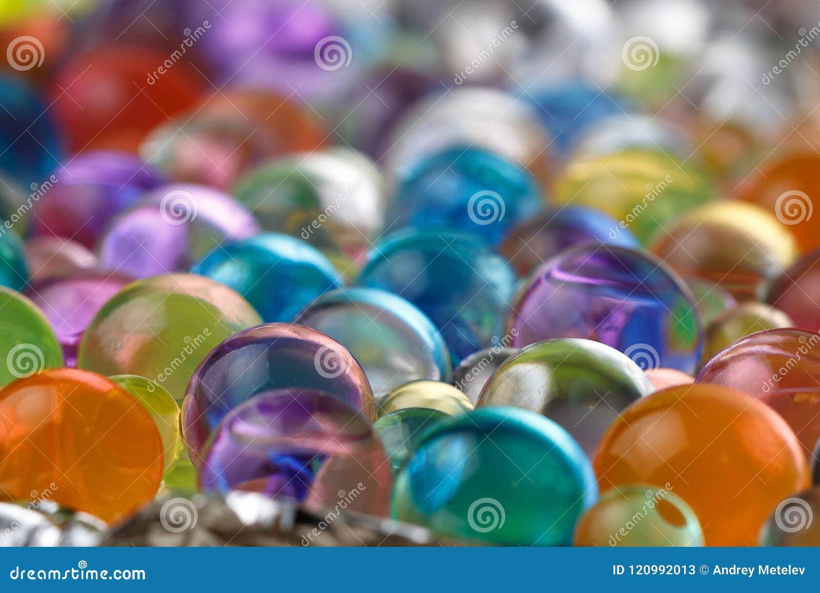 Дистантный взгляд от шариков гидрогеля