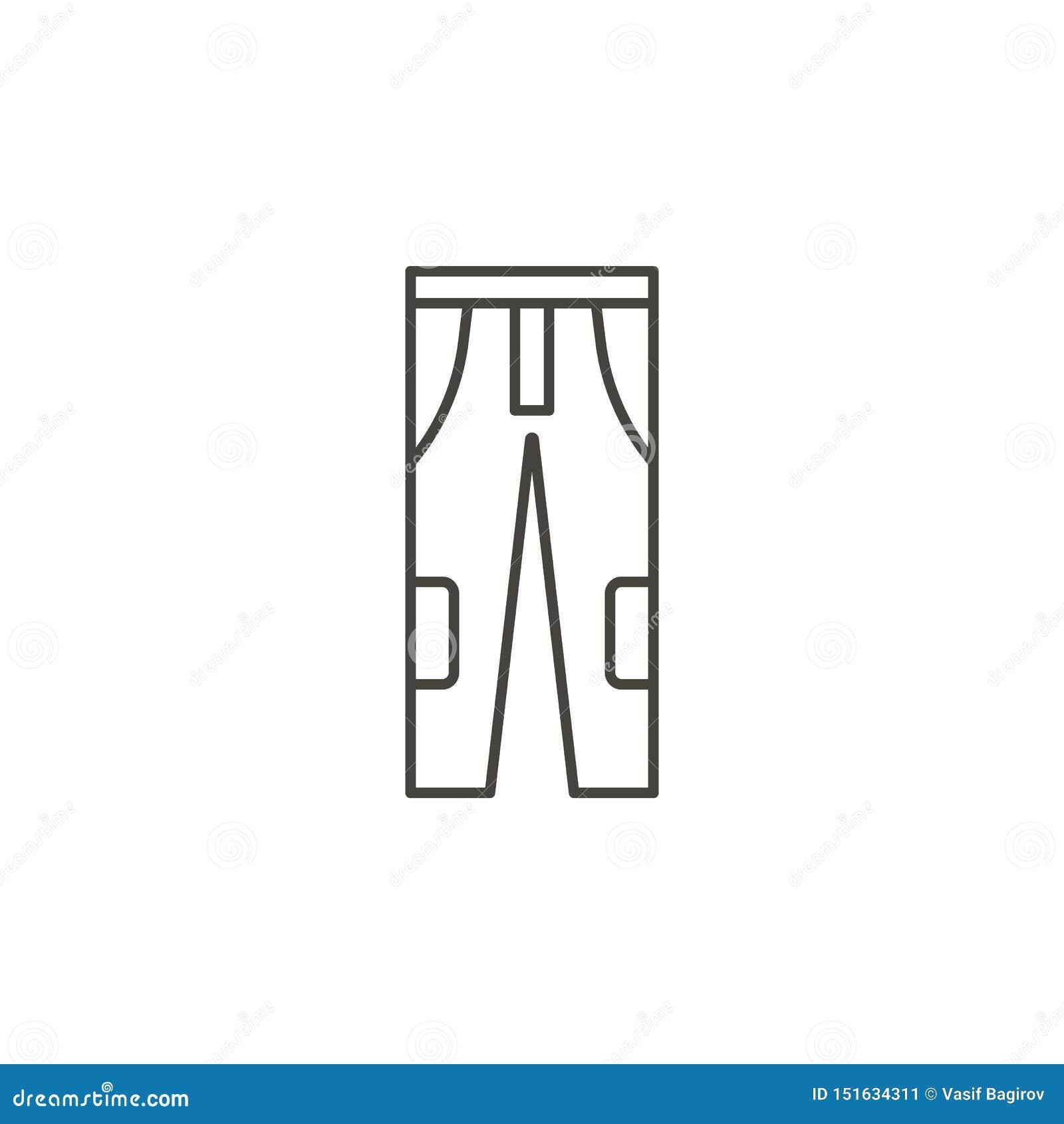 Дн, значок брюк хлопка - вектор Концепция простой иллюстрации элемента естественная Дн, значок брюк хлопка - вектор