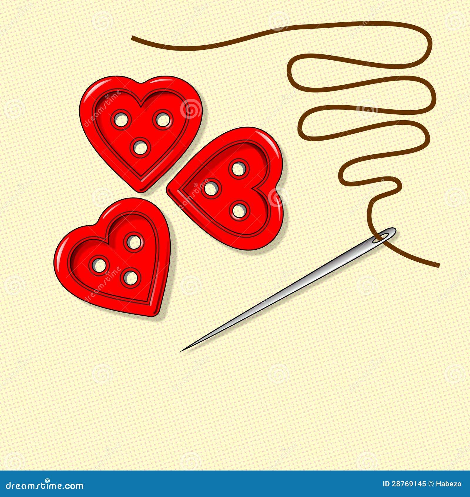 Дн сердца, день Валентайн, игла