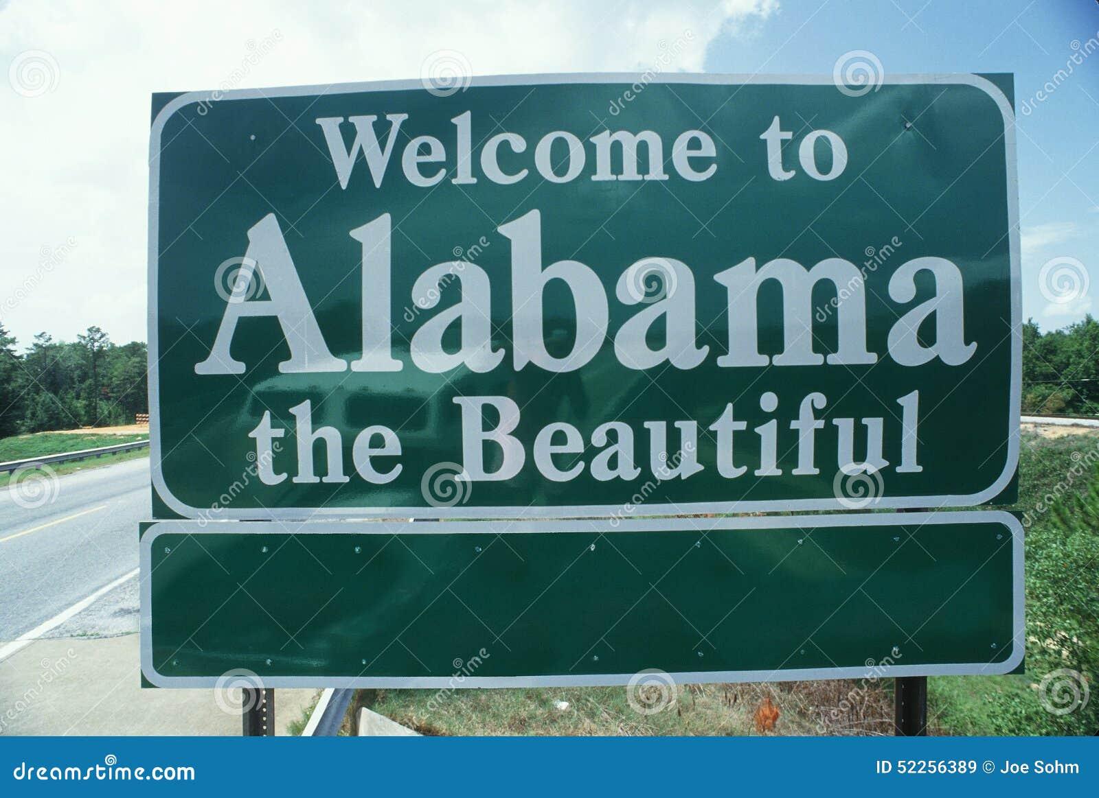 Добро пожаловать к знаку Алабамы