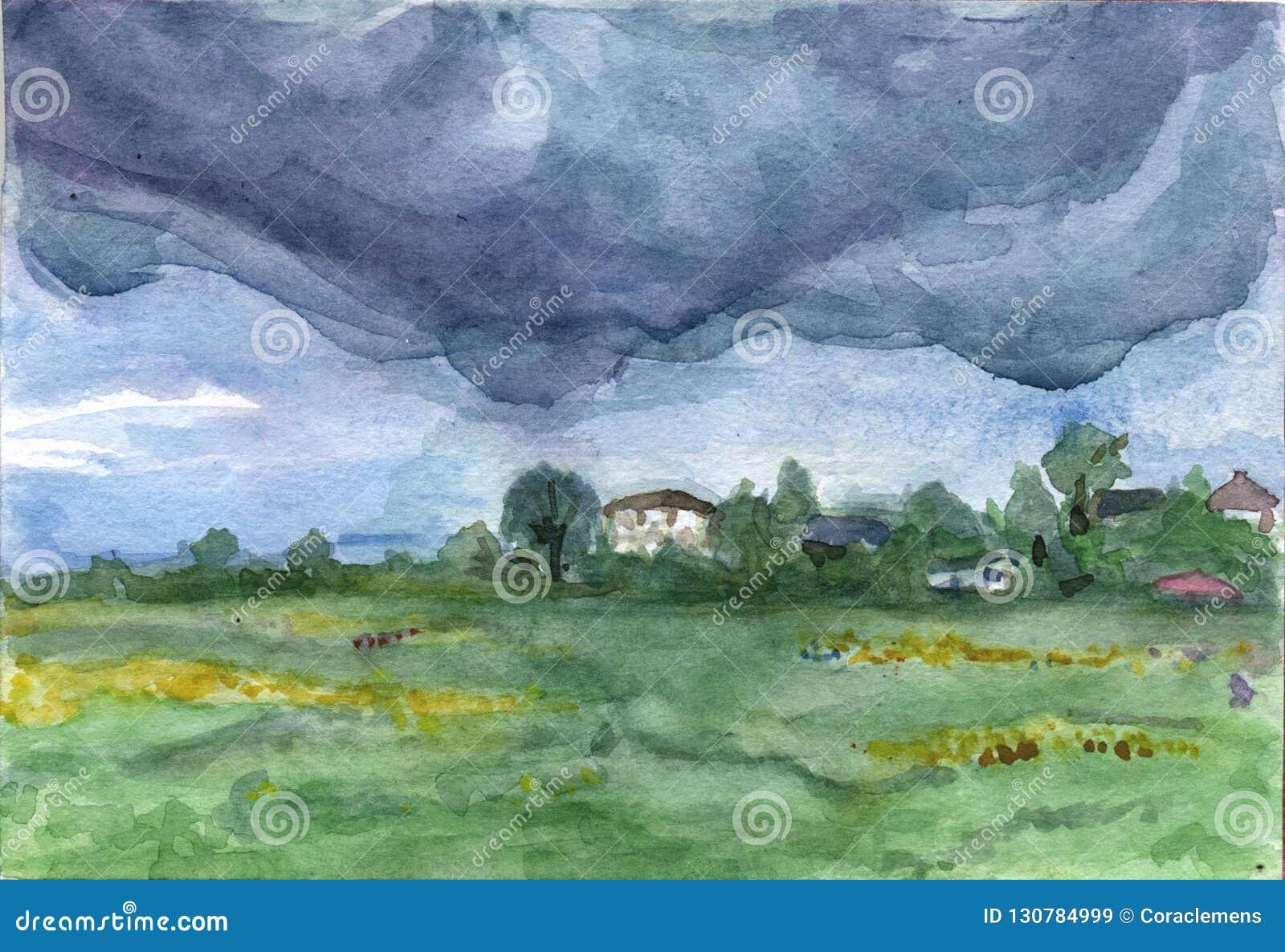 Дождливый день в деревне Comarovo
