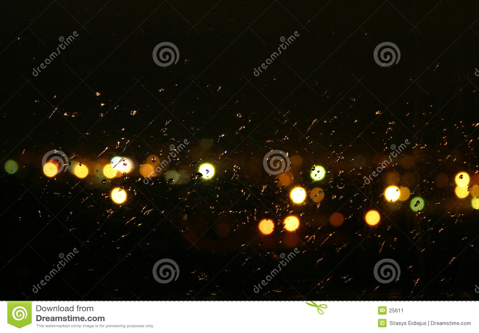 дождь ночи