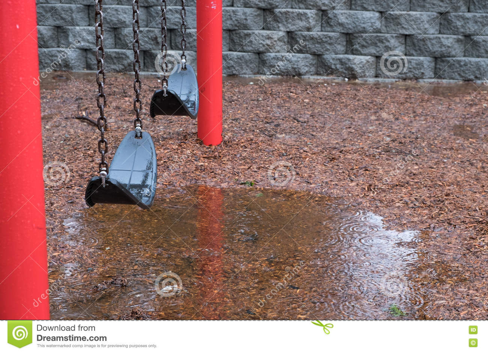 Дождливый день в парке