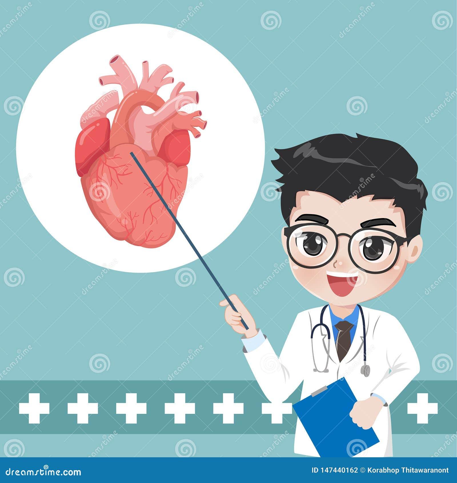Доктор советует и учит знанию для сердечных болезней