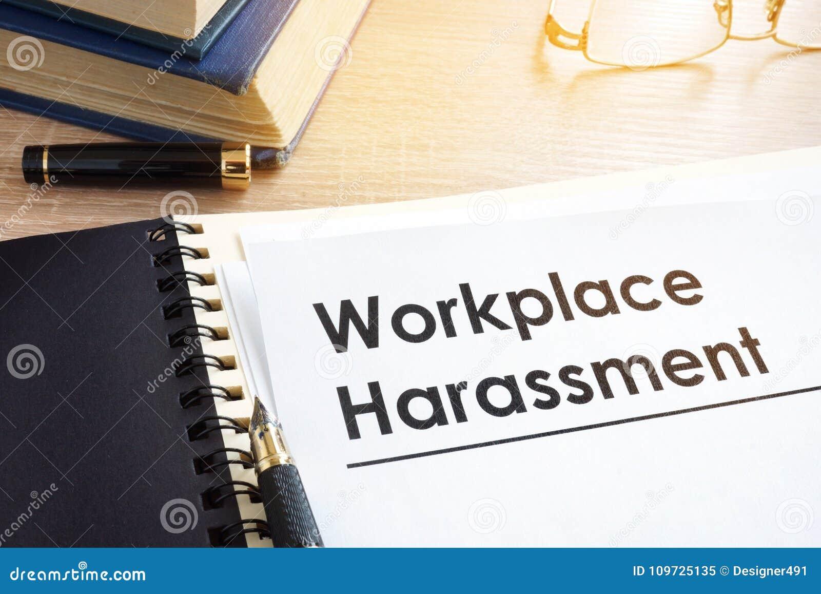 Документы о домогательстве рабочего места
