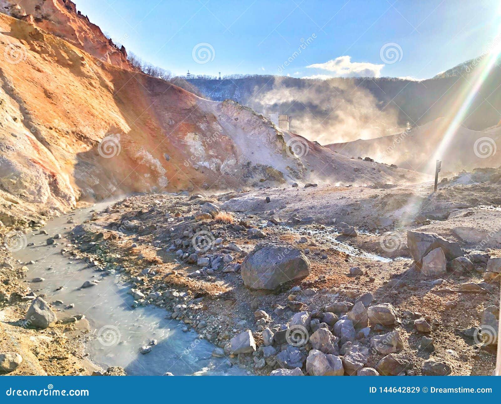 Долина ада в Японии