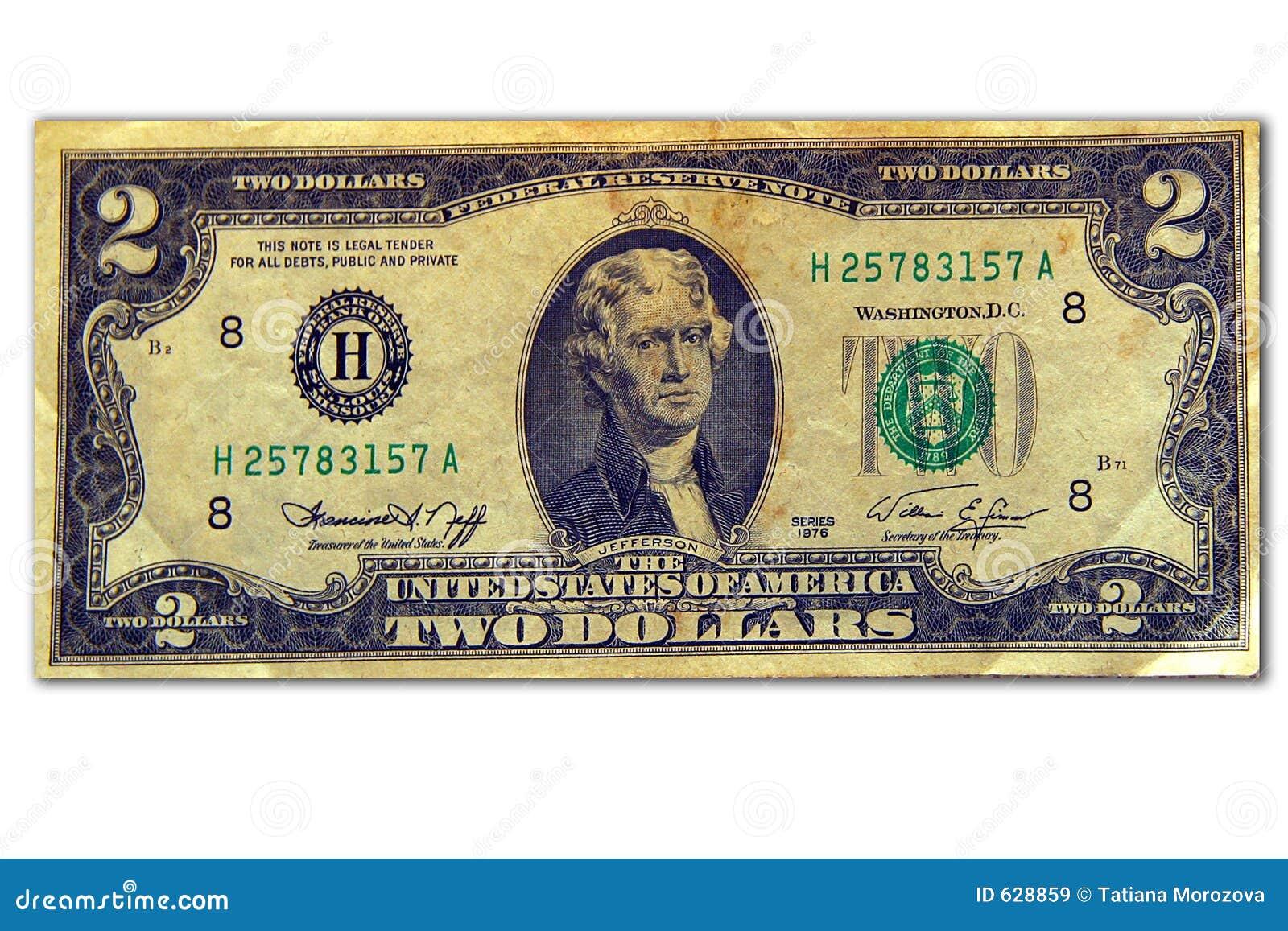 Download доллары 2 стоковое изображение. изображение насчитывающей серийно - 628859