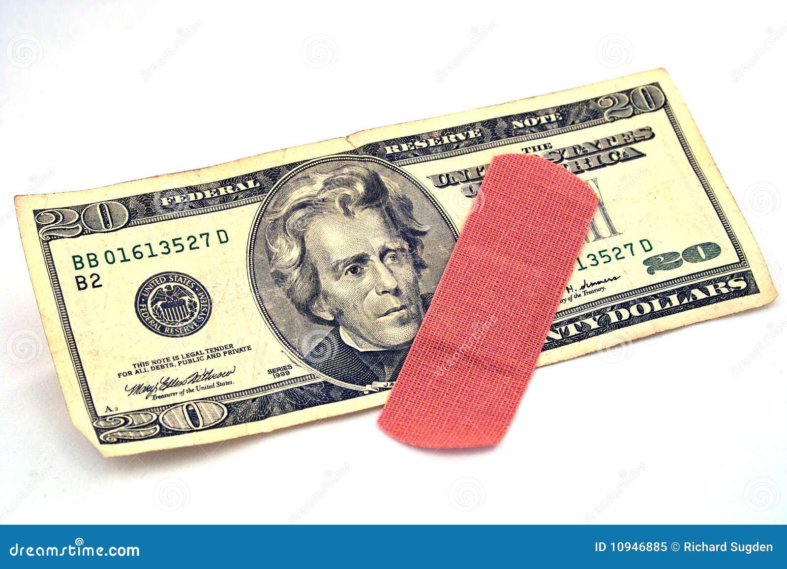 доллар счета 20 повязк