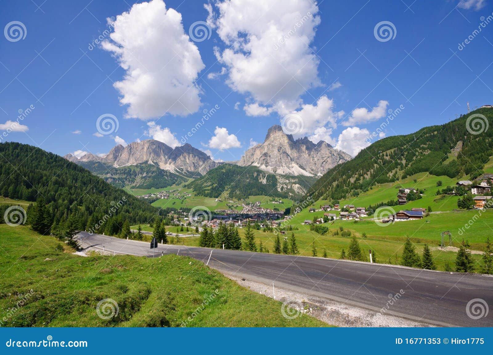 доломиты Италия corvara badia