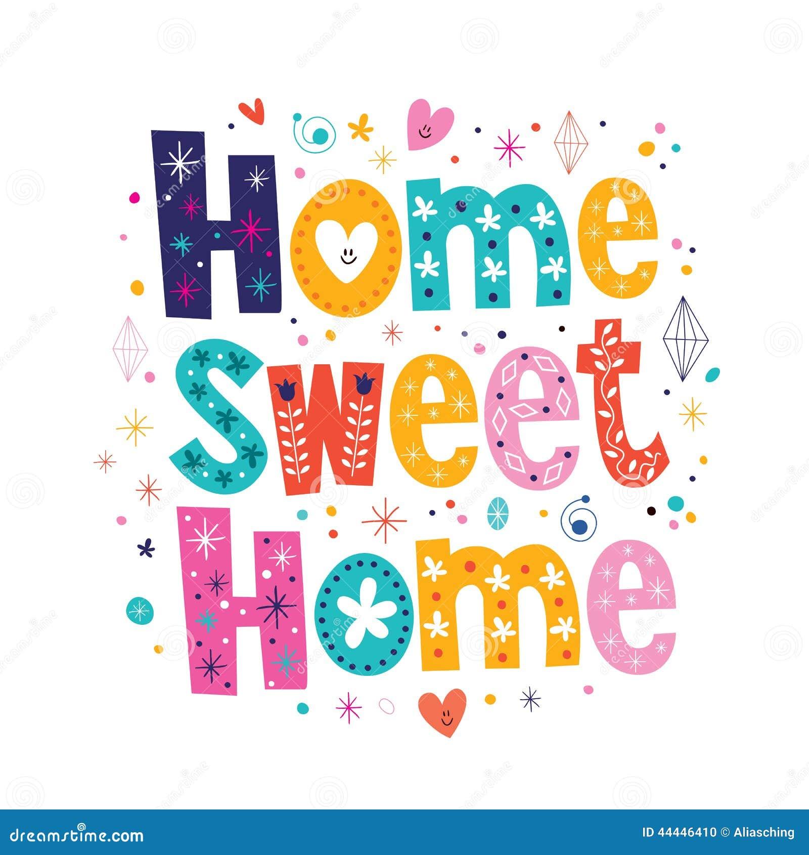Домашнее сладостное домашнее оформление помечая буквами декоративный текст