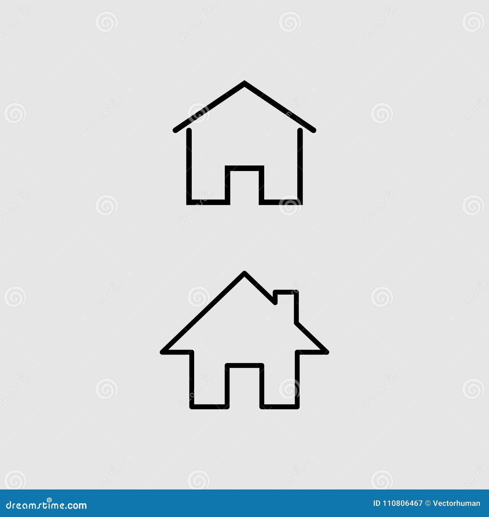Домашний знак вектора значка