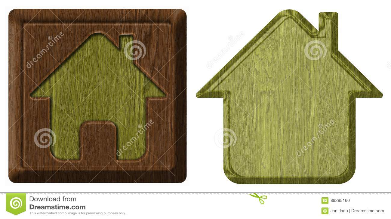 Домашний значок, бирка