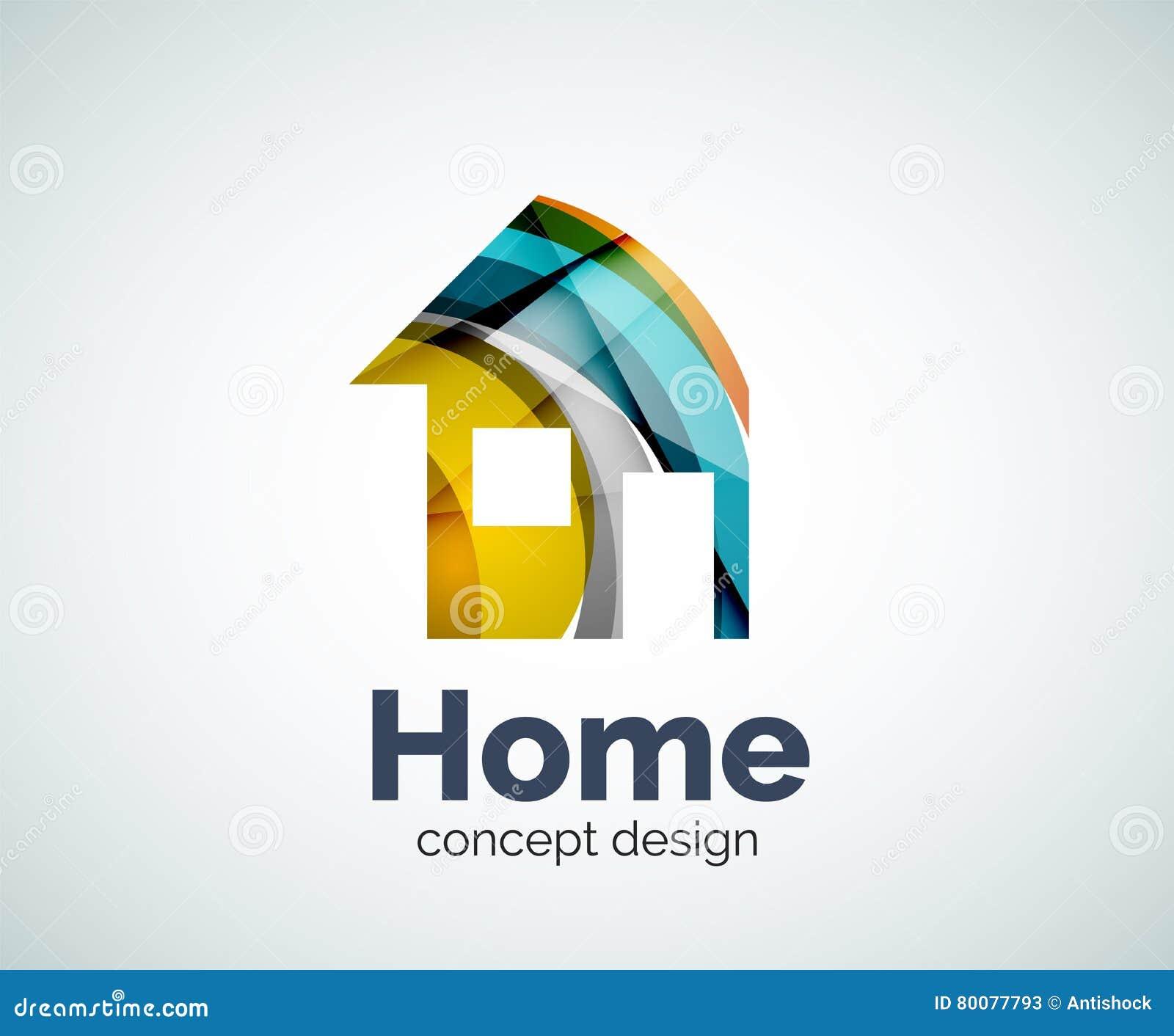 Домашний шаблон логотипа недвижимости