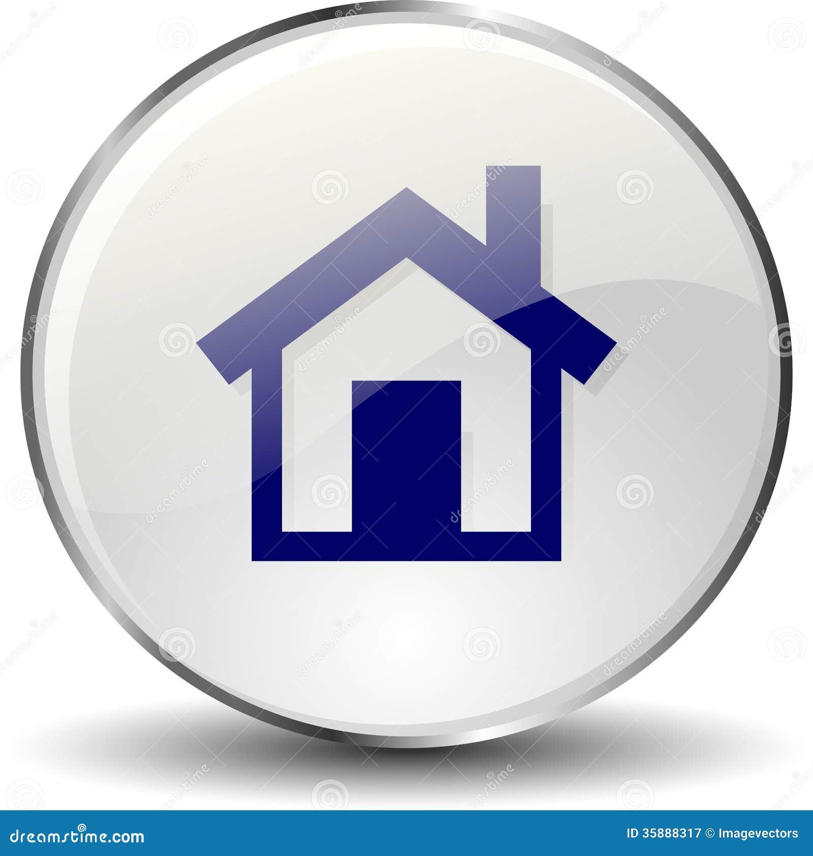 Домашняя кнопка значка