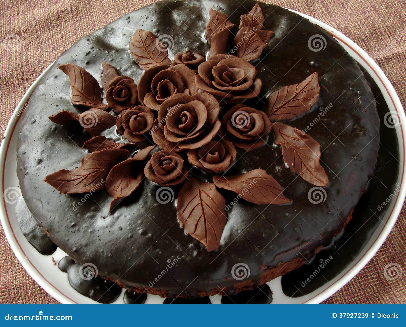 Домодельный шоколадный торт