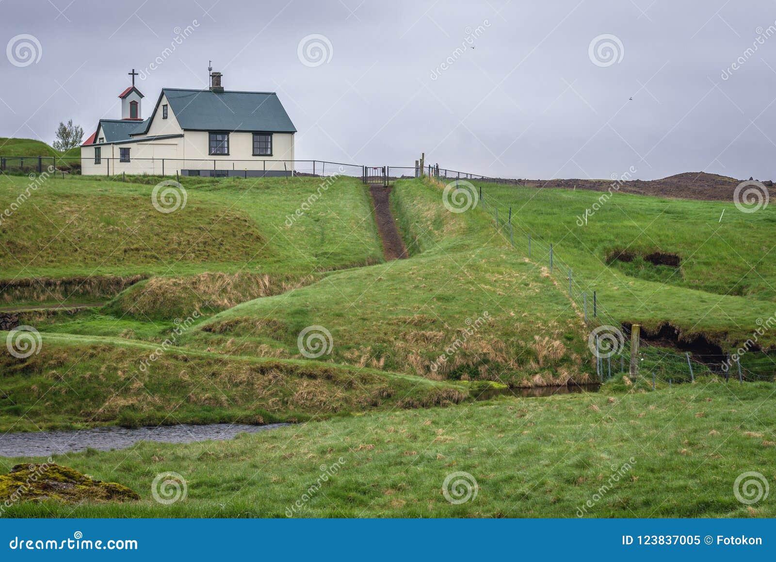 Дом дерновины Keldur в Исландии