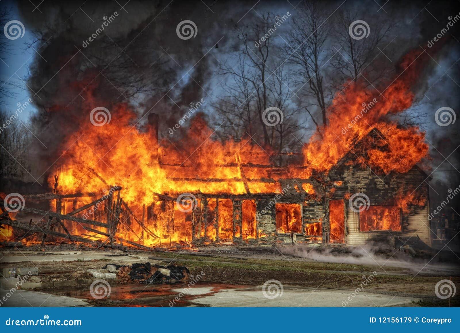 дом пожара