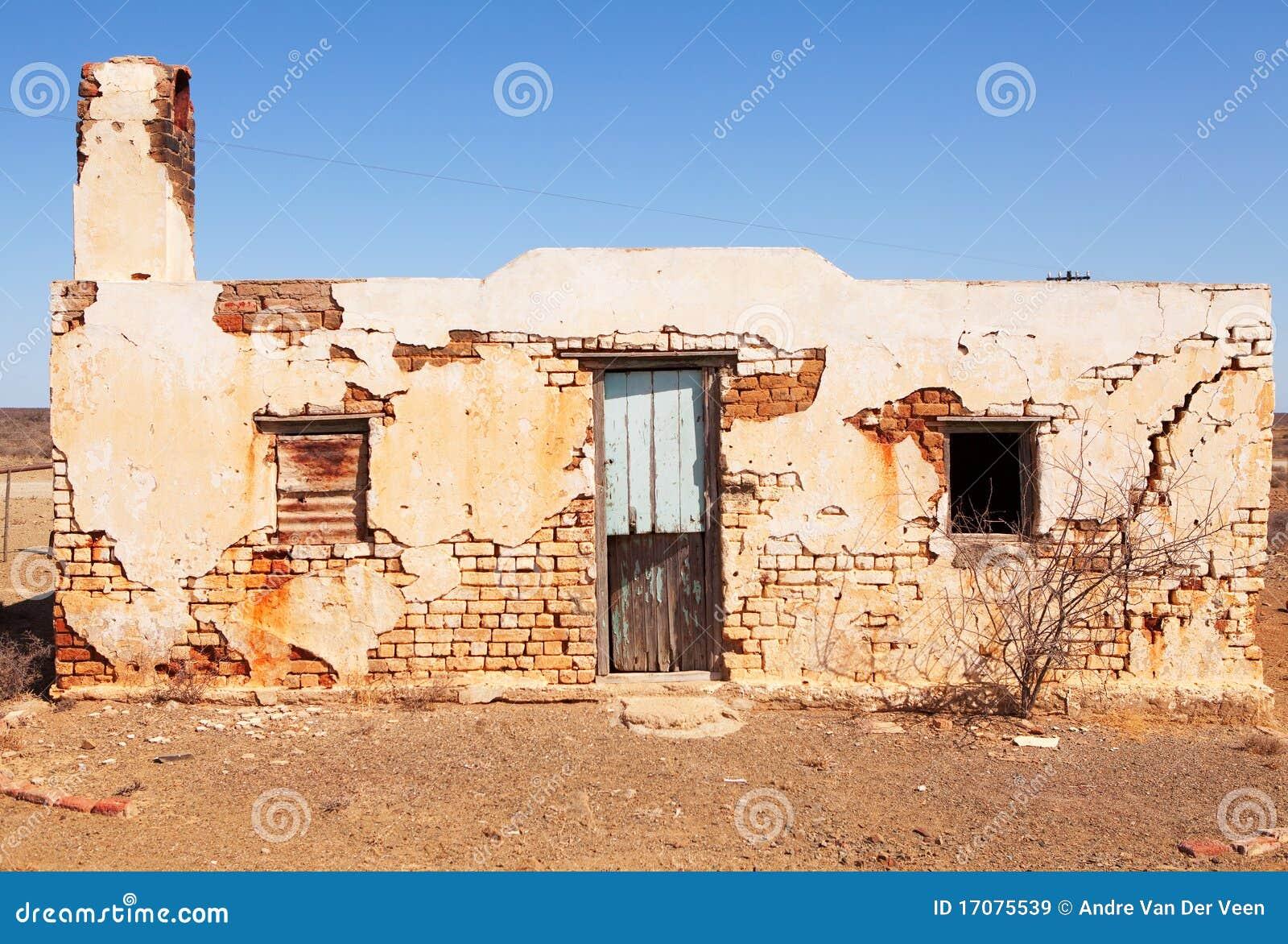 дом пустыни заброшенной местности старая
