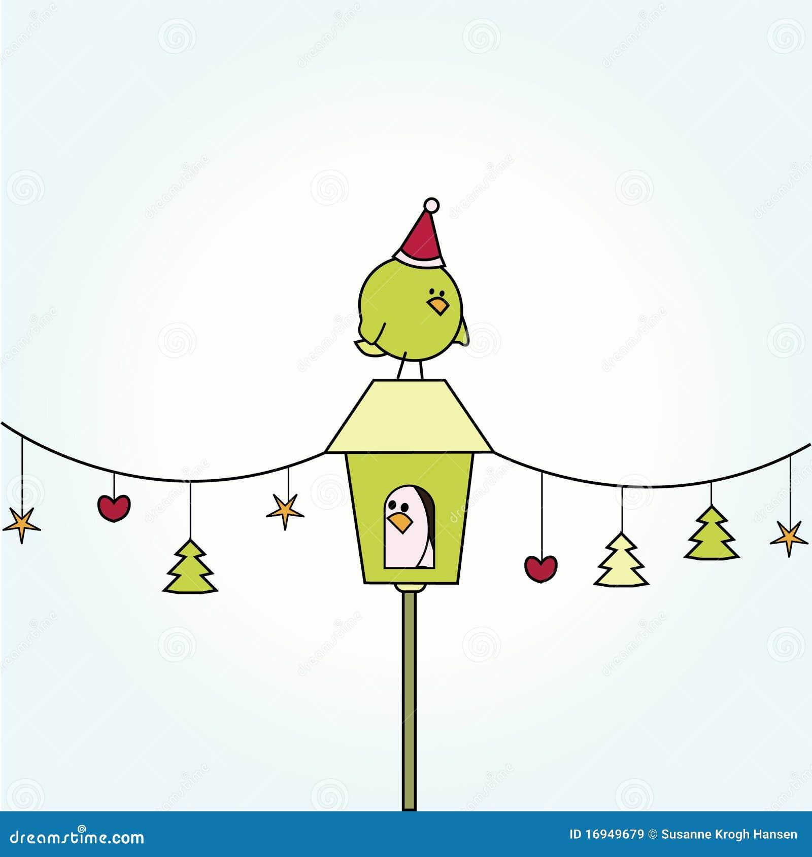 дом рождества птицы