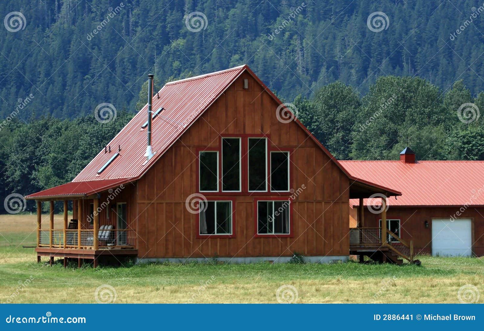 дом фермы самомоднейшая