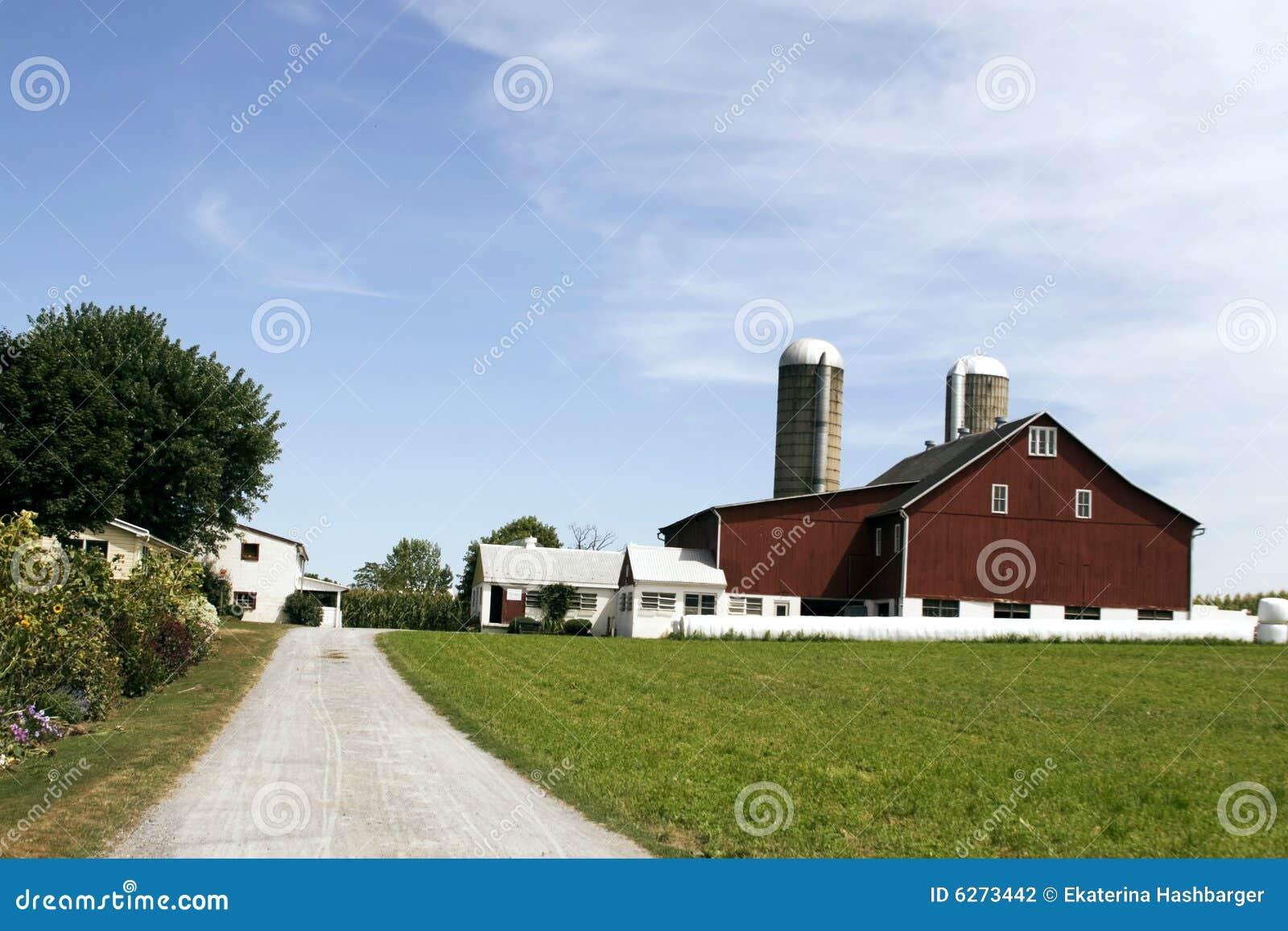 дом фермы amish