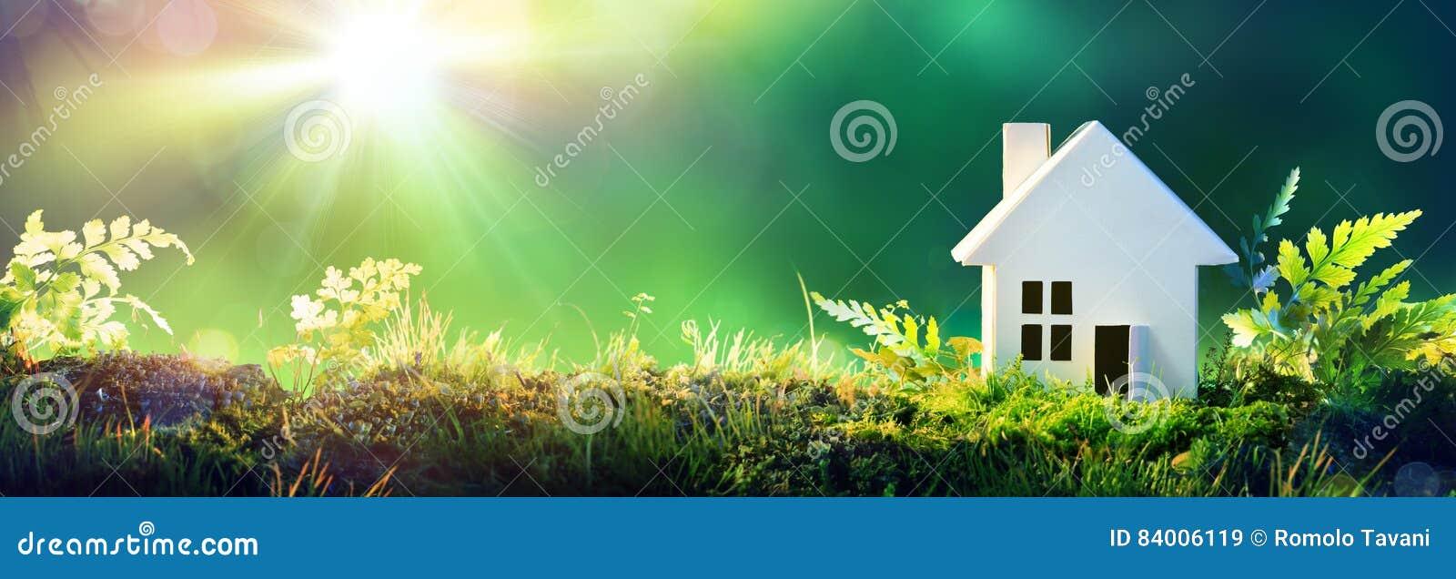 Дом Eco дружелюбный - бумажный дом на мхе