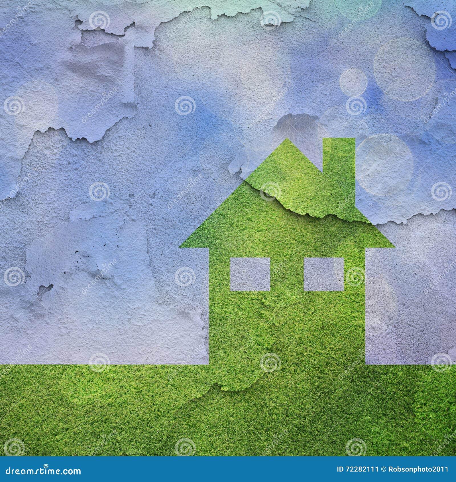 Download Дом Eco с треснутой предпосылкой текстуры Стоковое Изображение - изображение насчитывающей нетоварищеско, природа: 72282111