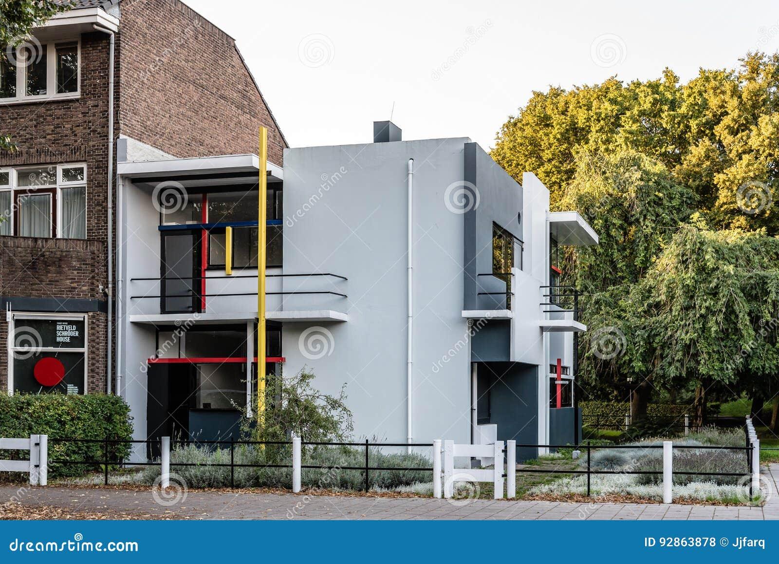 Дом Schroder Gerrit Rietveld в Utrecht, Нидерландах