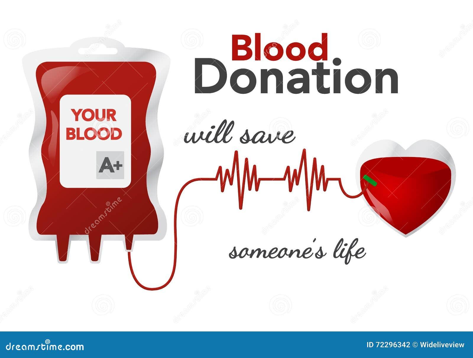 Донорство крови, иллюстрация вектора, концепция с dripper, сердцем
