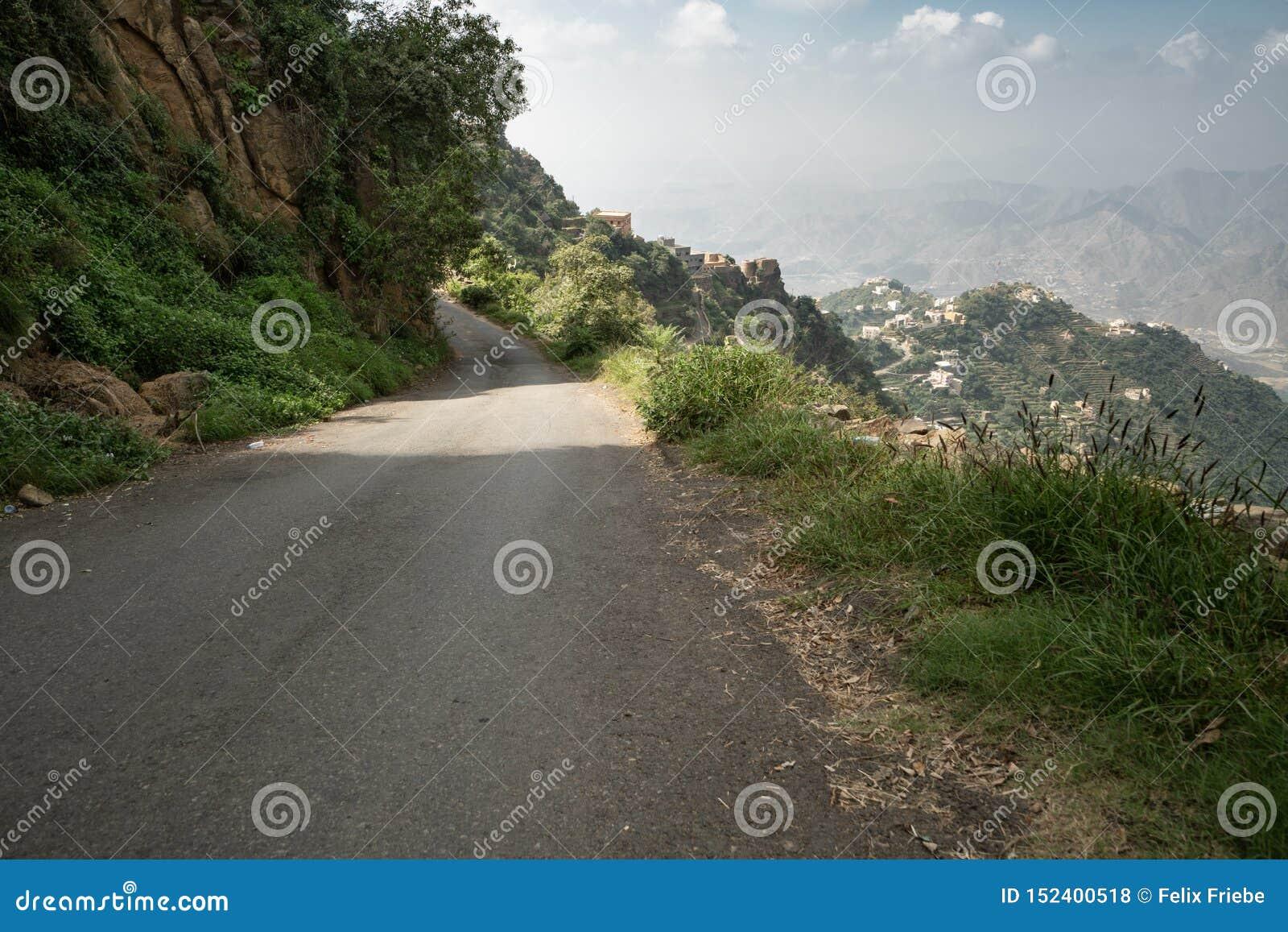 Дорога горы в Jizan Provice, Саудовской Аравии