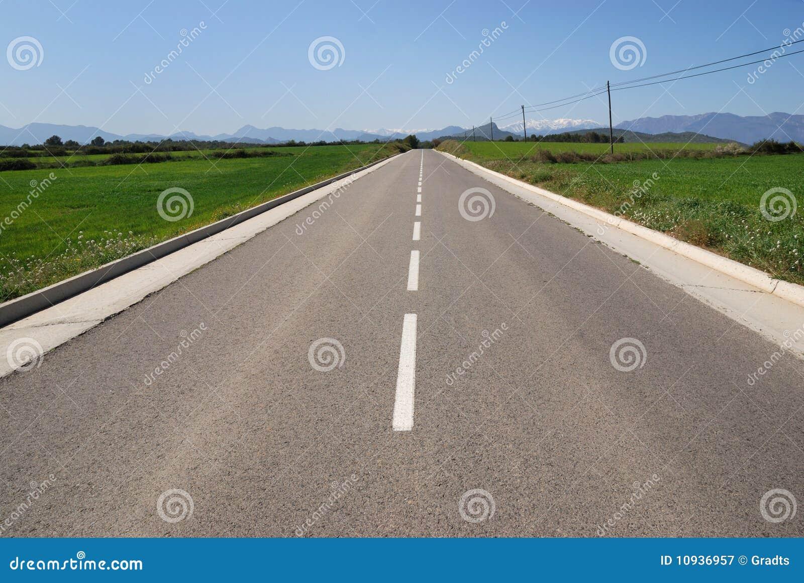 дорога гор горизонта