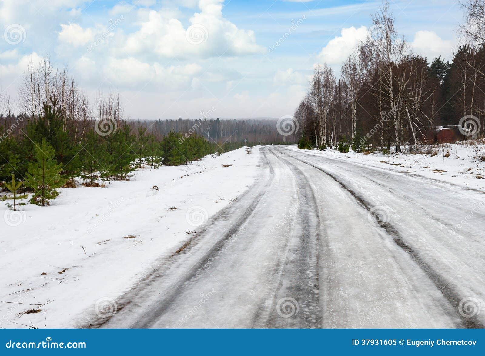 Дорога зимы опасная
