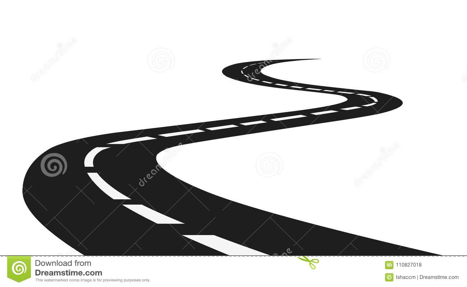 Дорога Изолированная дорога на белом запасе вектора предпосылки