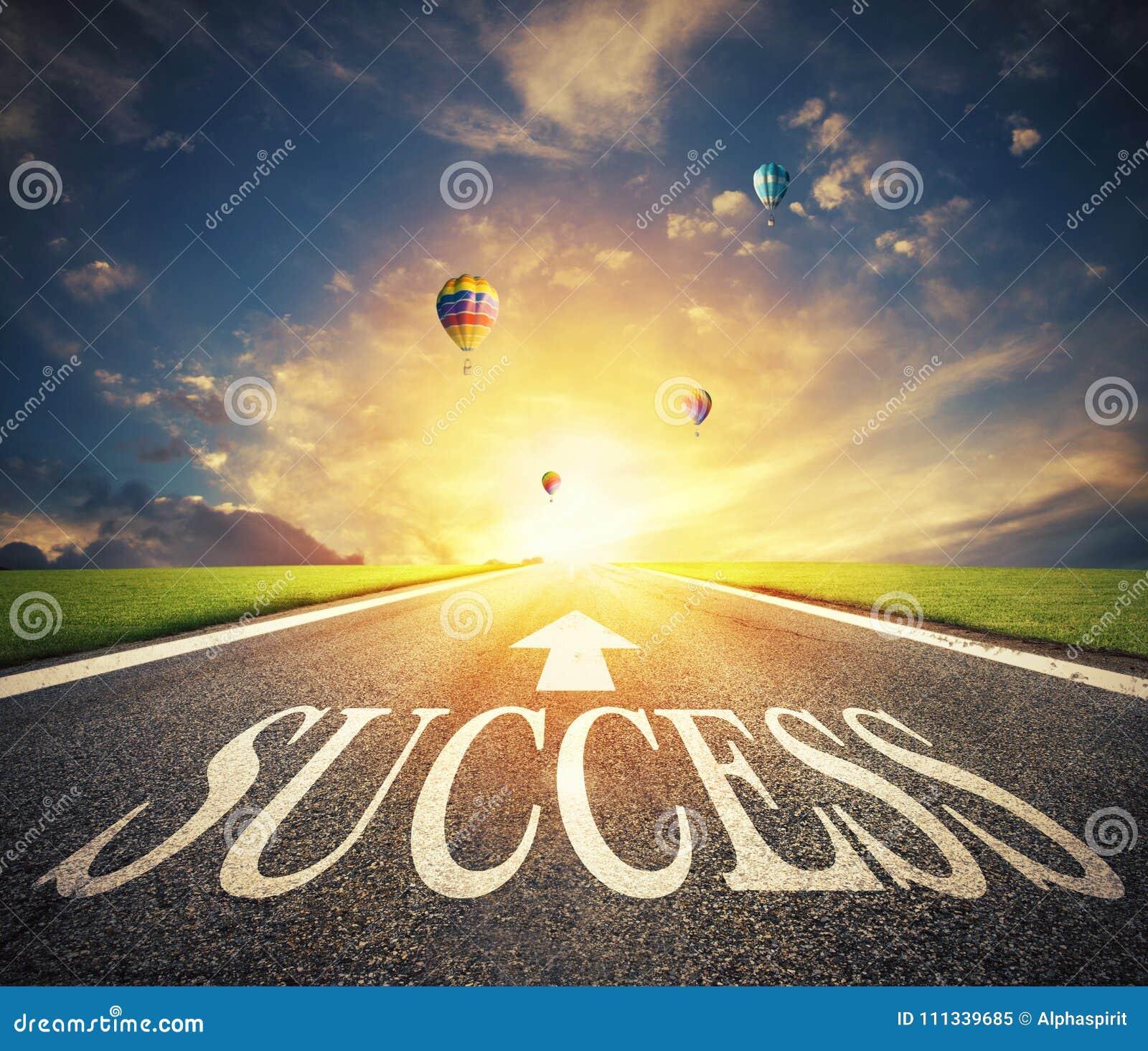 Дорога успеха Путь для новых возможностей для бизнеса