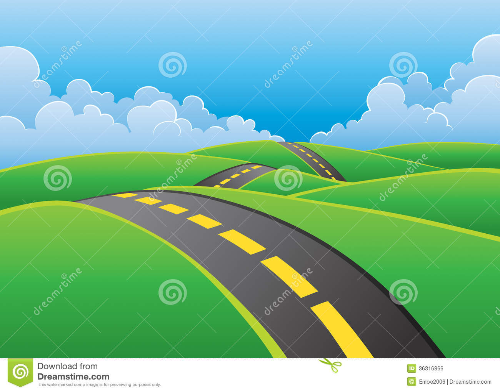 Дорога через предпосылку природы