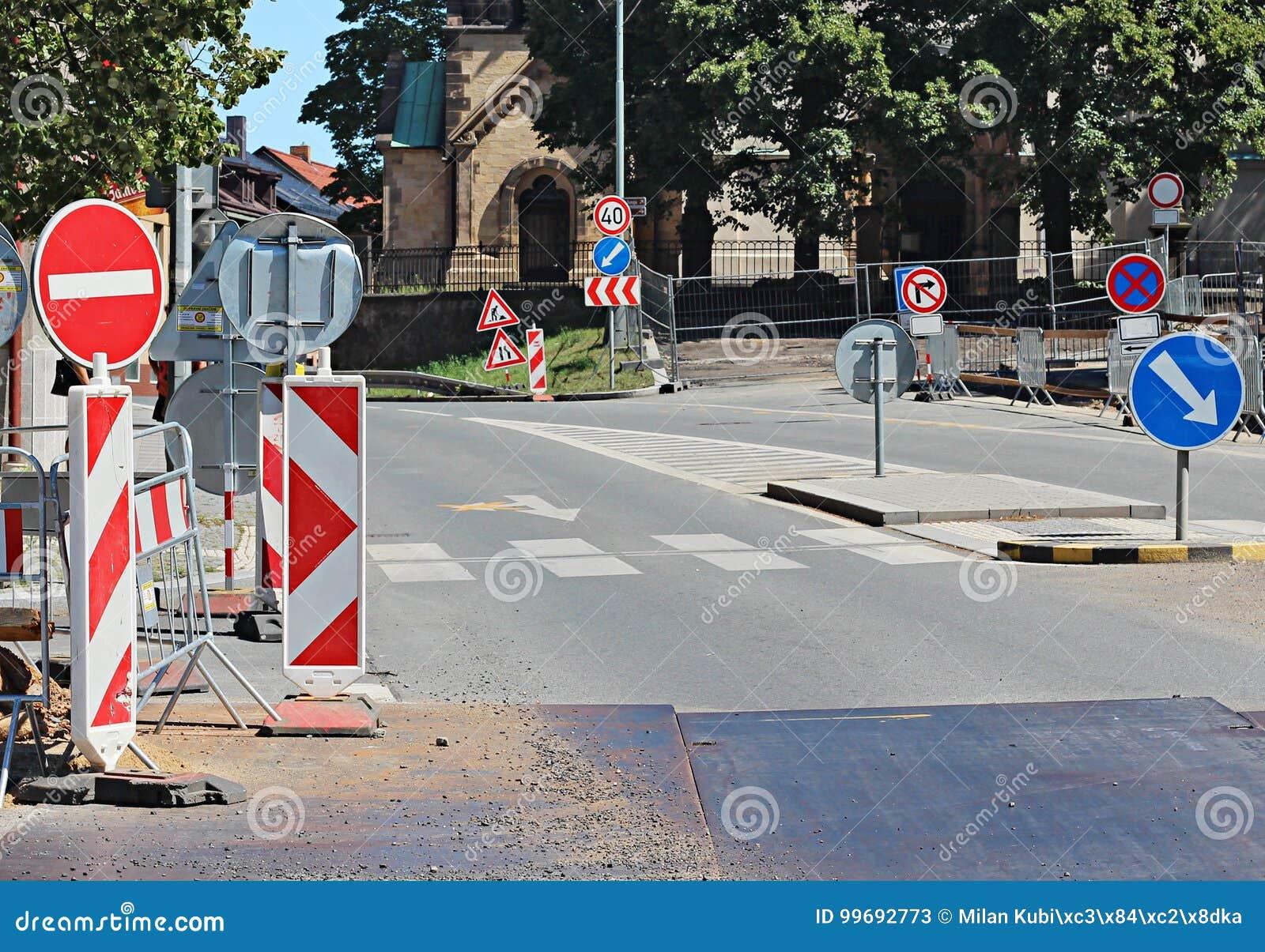 Дорожная работа на городе