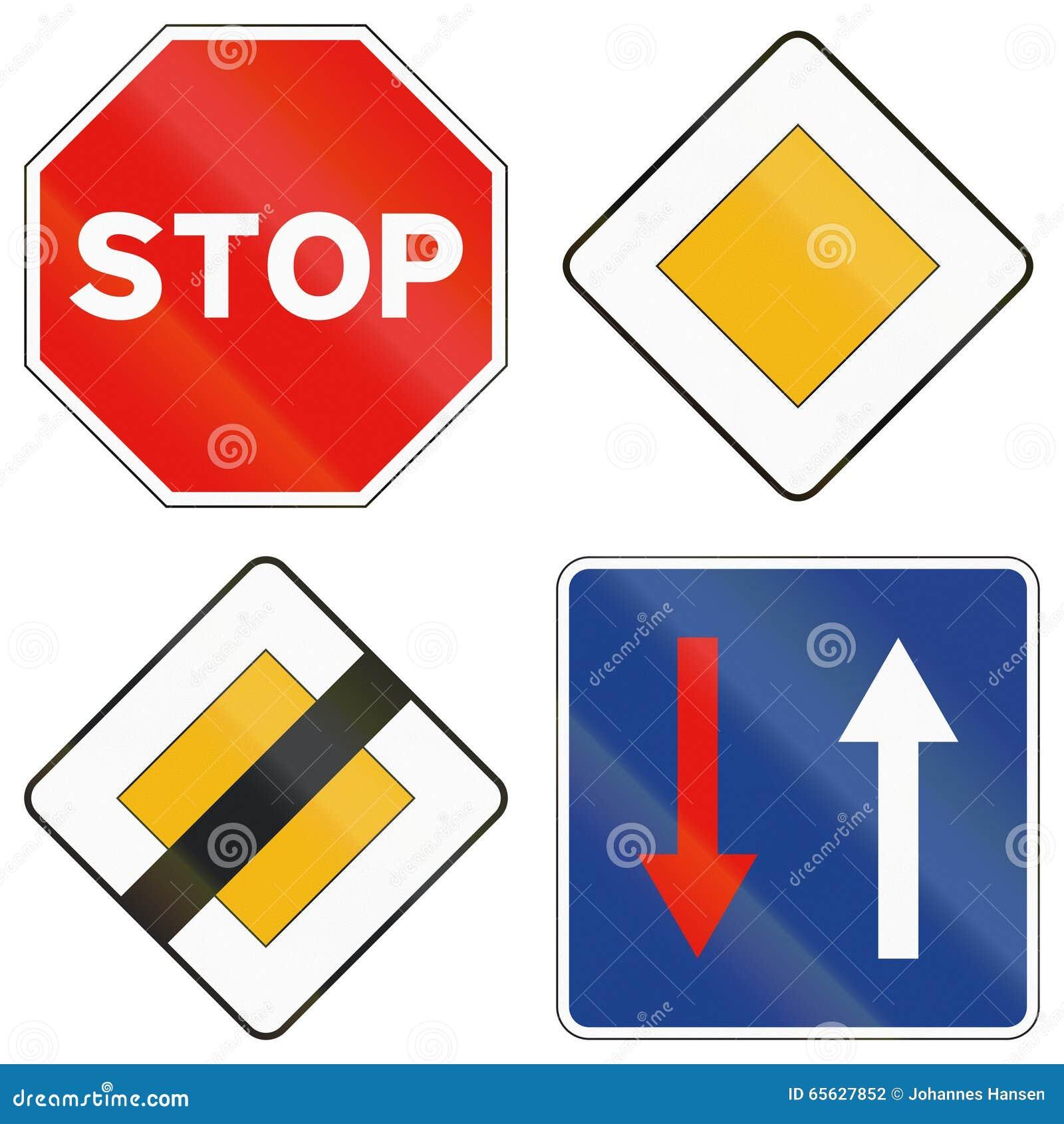 Дорожные знаки используемые в Испании