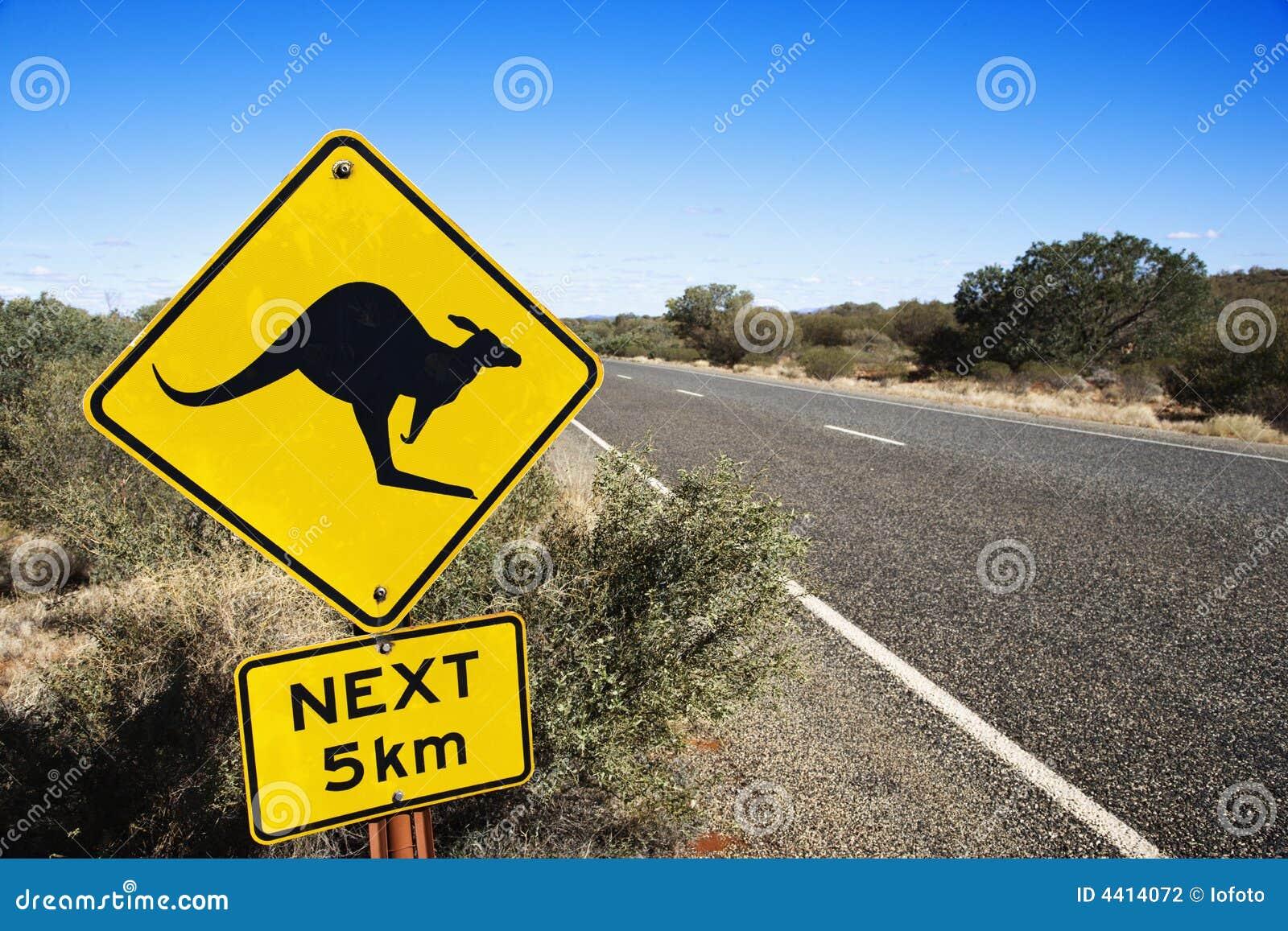 дорожный знак Австралии