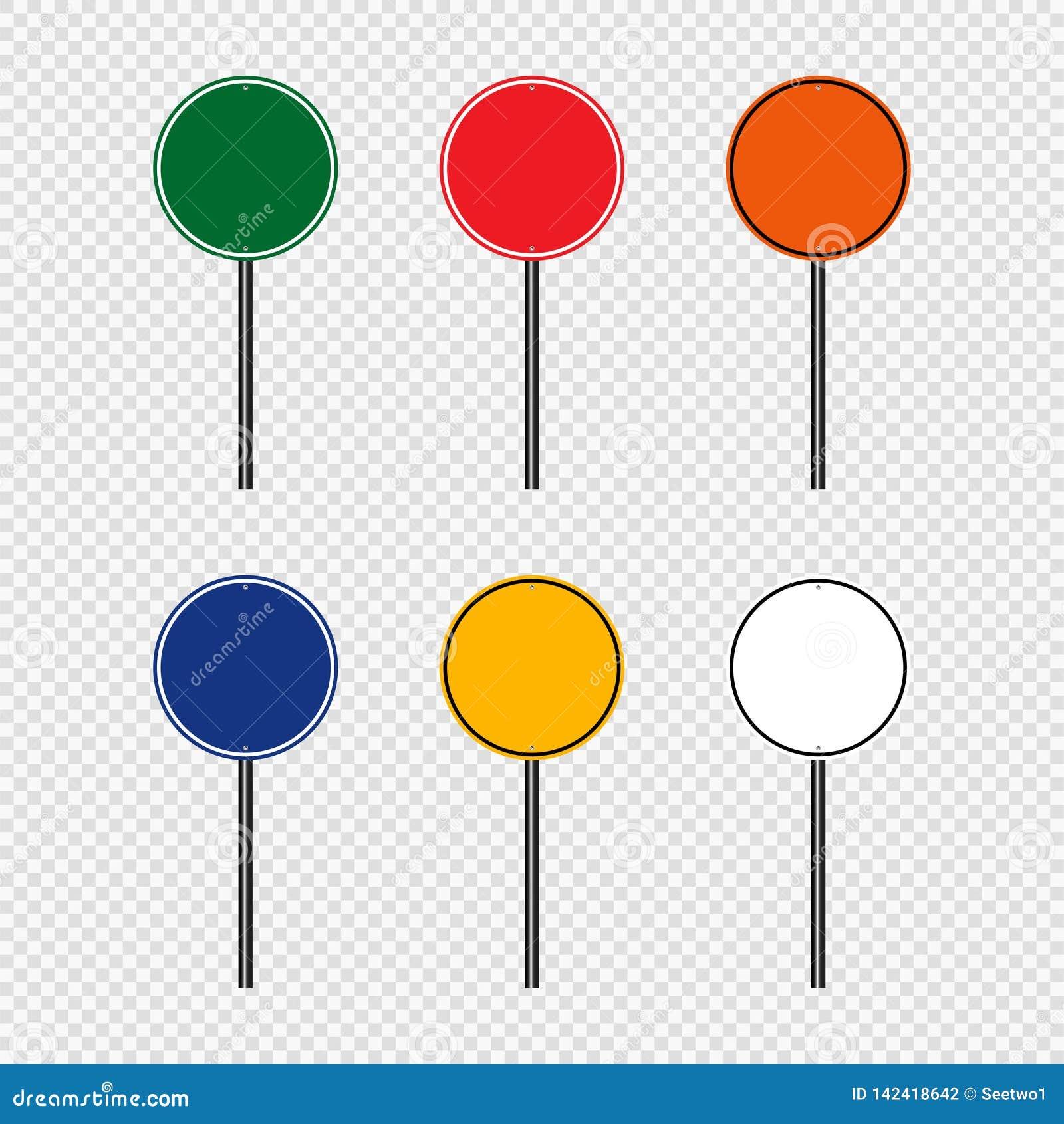 дорожный знак набора символа, знаки доски дороги изолированные на прозрачной предпосылке вектор экрана иллюстрации 10 eps