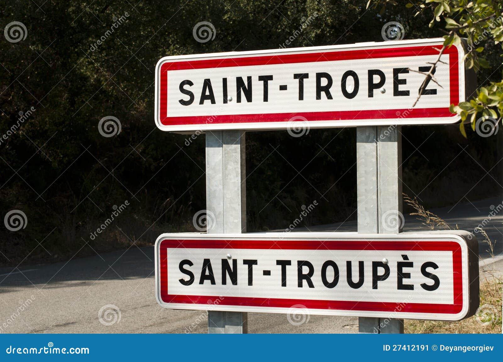 Дорожный знак St. Tropez