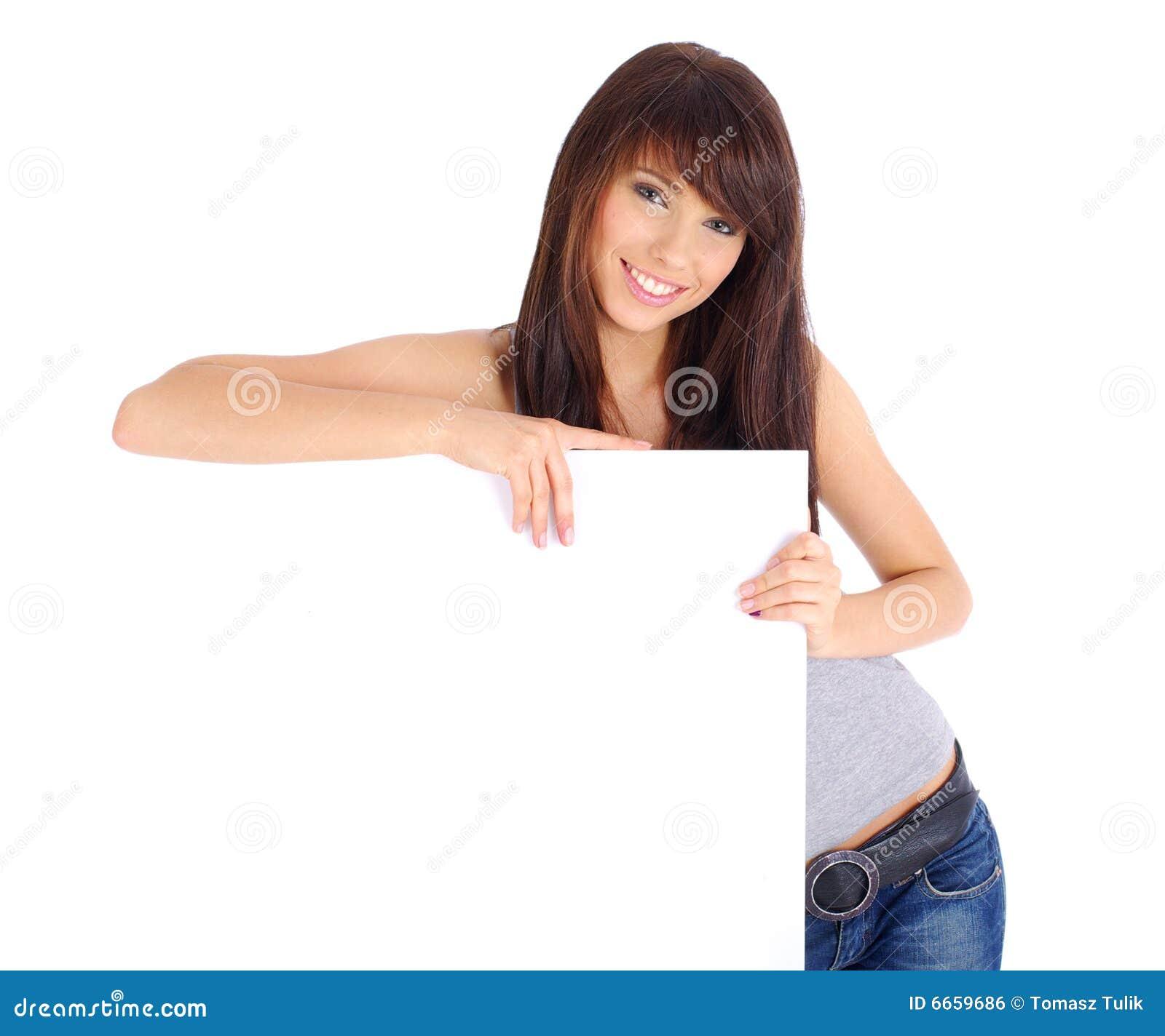 доска держа сексуальную женщину